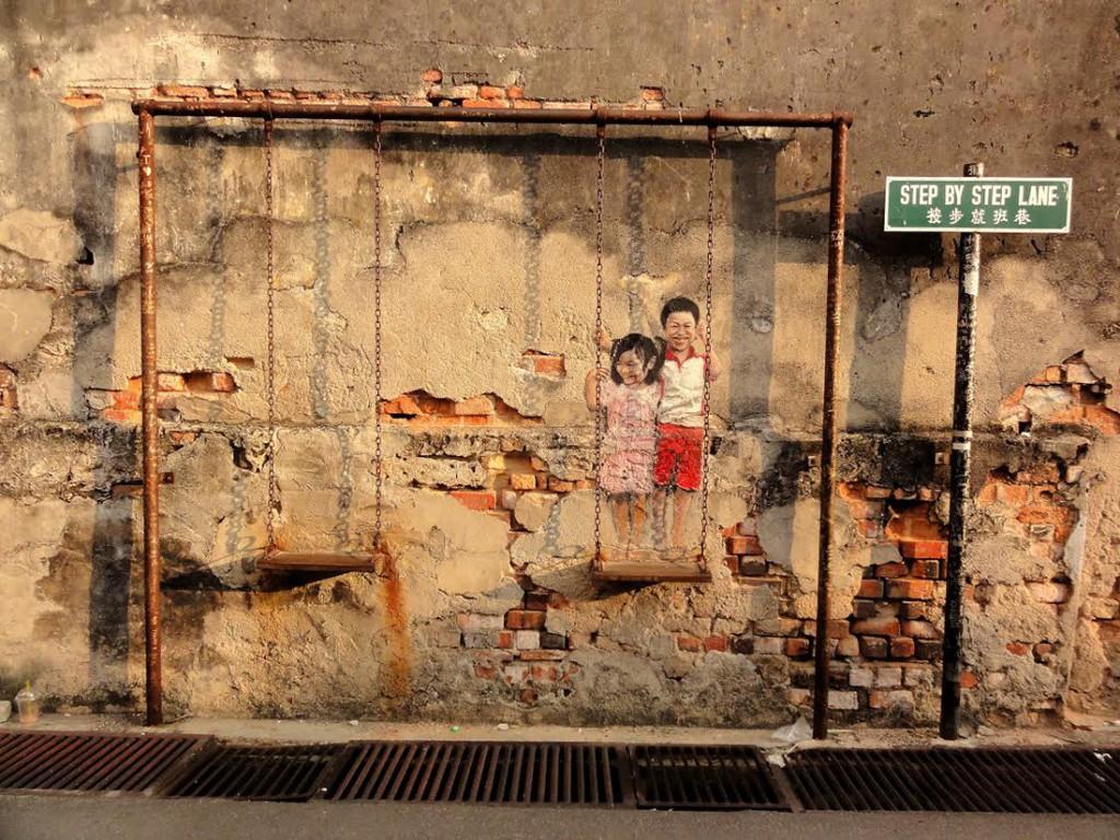 Malezja, Georgetown, Gadulec, street art