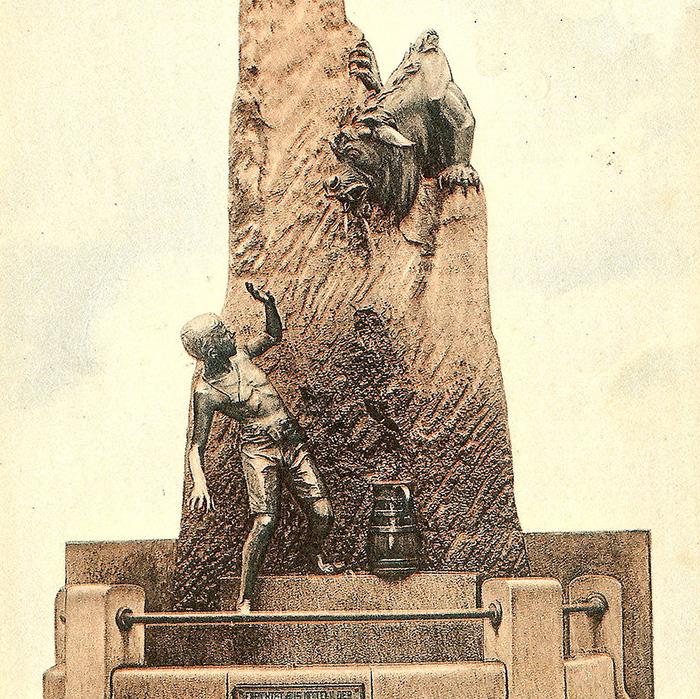 Akwizgran, Aachen, fontanna, Niemcy